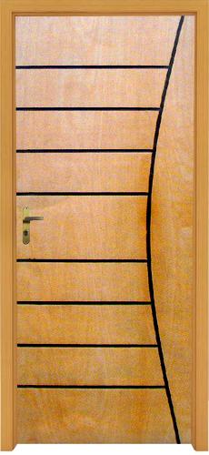 Porta Frisada Virola 07 em madeira Virola