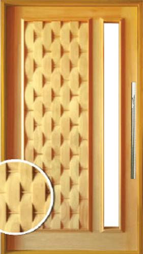 Porta Pivotante couro com visor lozando em liptus
