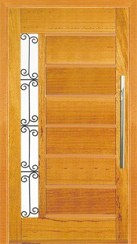 Porta Pivotante Horizontal com  Visor / Grade em angelim