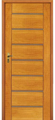 Porta Maciça horizontal com aço escovado