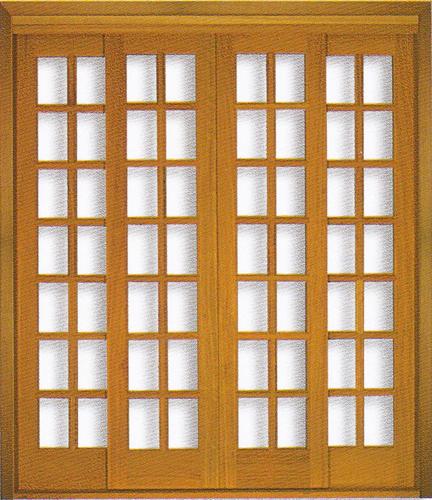Porta Reta da Linha Quadriculada  em Angelim pedra