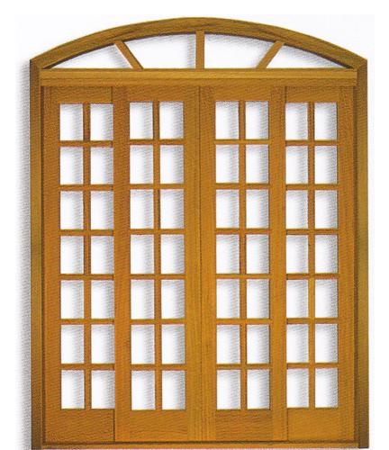 Porta Arco da Linha Quadriculada  em Angelim pedra