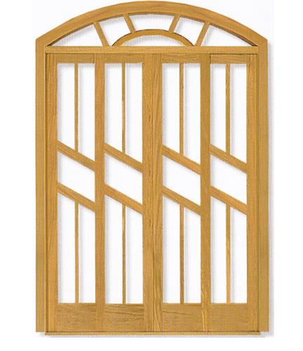 Porta Arco da Linha Diagonal  em Angelim pedra